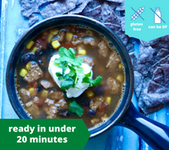 Sausage Taco Soup — freezer meal