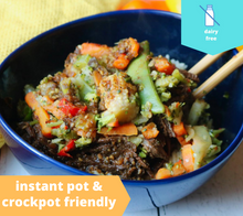 Load image into Gallery viewer, Crockpot Asian Beef w/ Stir Fry Veggies — freezer meal
