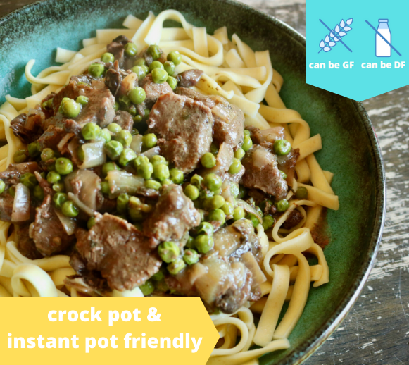 Crockpot Beef & Noodles — freezer meal