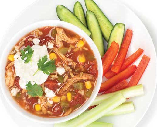 Pulled Chicken Soup