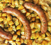 Load image into Gallery viewer, Cheddar Jalapeno Chicken Sausages w/ Potatoes & Veggies — freezer meal