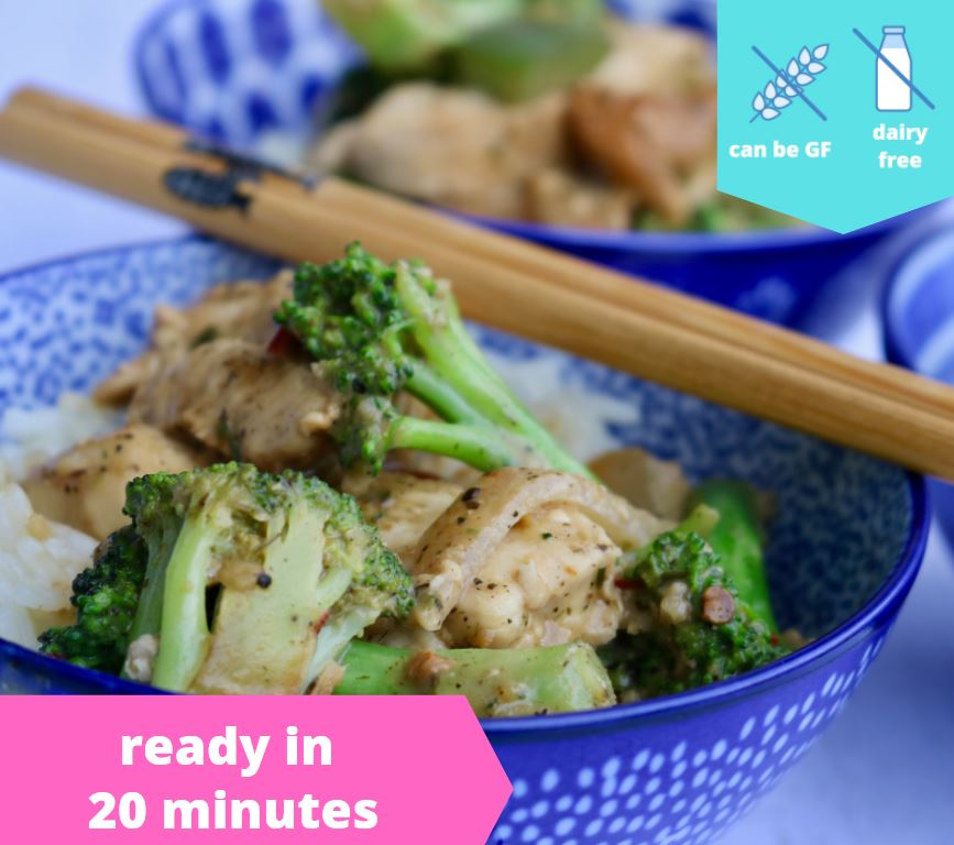 Thai Peanut Stir Fry Chicken — freezer meal
