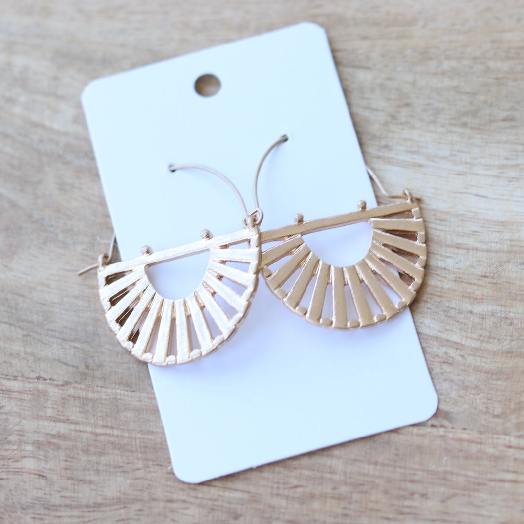 Brushed Gold Crescent Fan