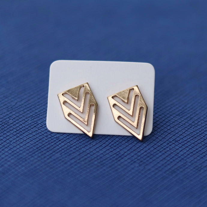 Gold Arrow Studs