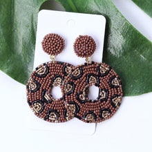 Load image into Gallery viewer, Chocolate Leopard Beaded Drop