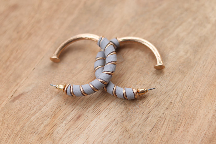 Leather Wrapped Hoops