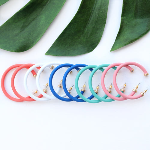 Matte Colored Hoops