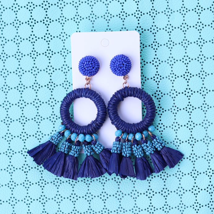 Aqua and Blue Resort Tassel
