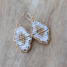 Load image into Gallery viewer, Ivory Arabesque Beaded Earrings