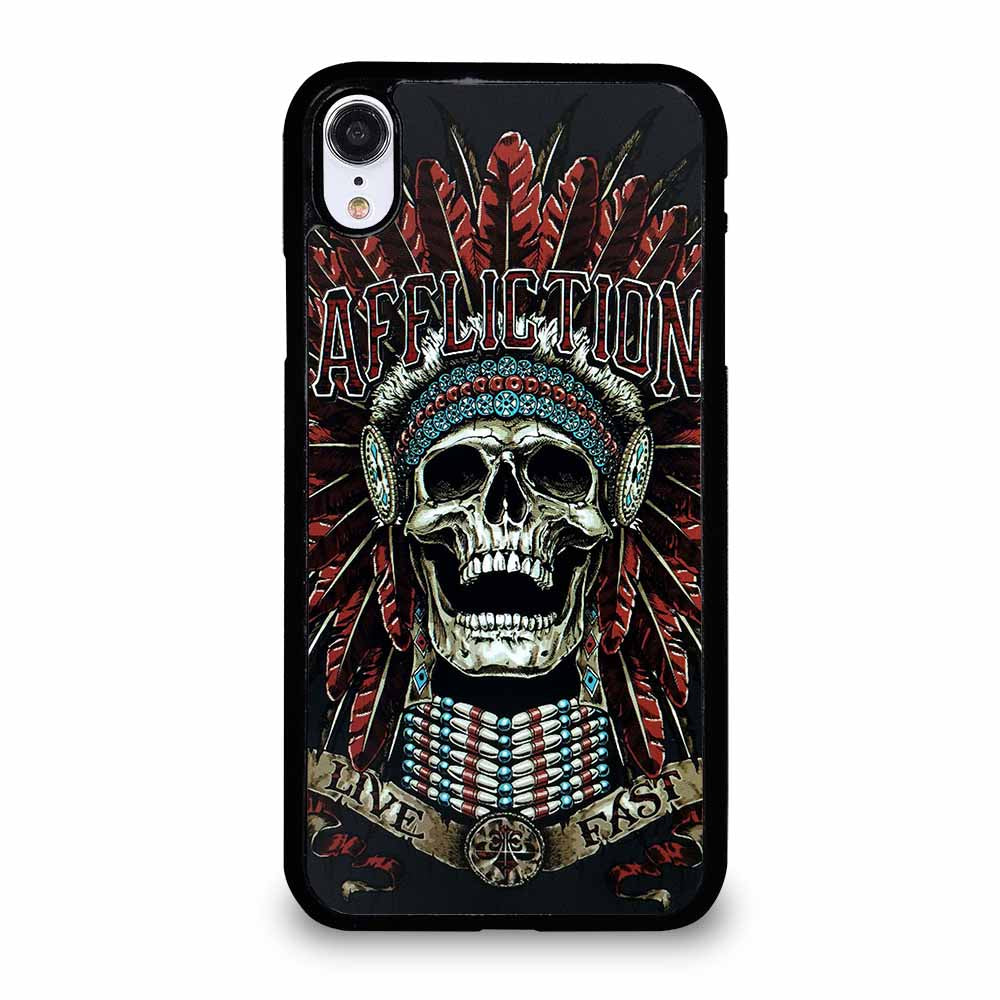 AFFLICTION SKULL INDIAN iPhone XR