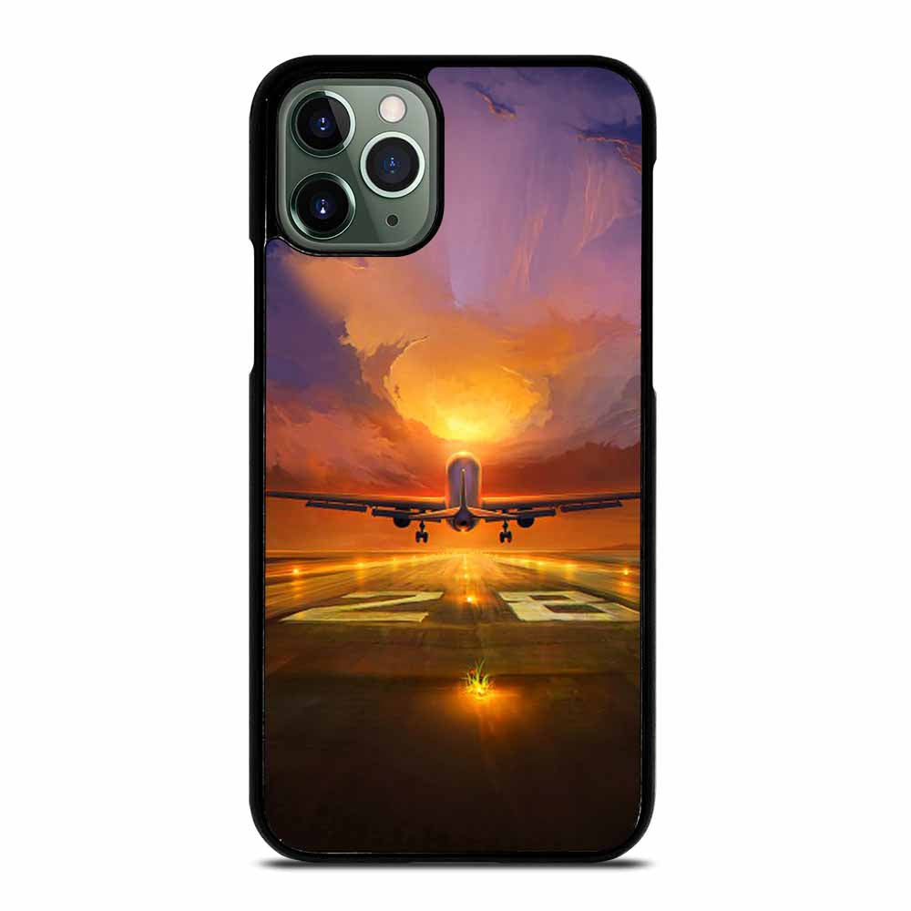 AIRPLANE OVER SUNSET iPhone 11 Pro Max Case