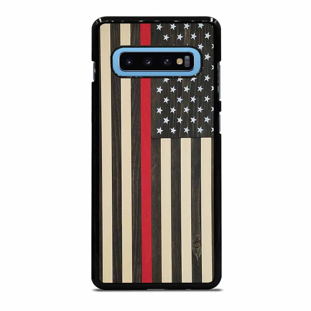 AMERICAN FLAG USA BLACK WOOD Samsung Galaxy S10 Plus Case