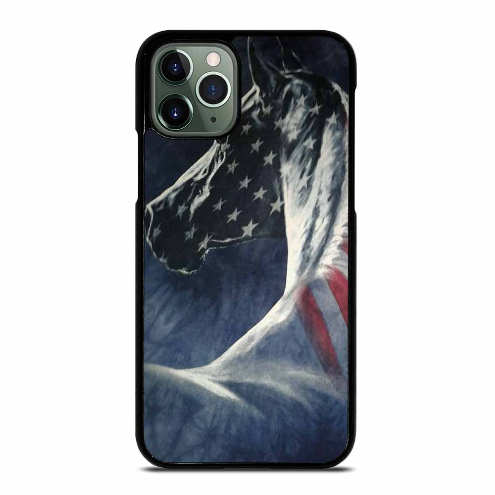 AMERICAN FLAG USA HORSE #1 iPhone 11 Pro Max Case