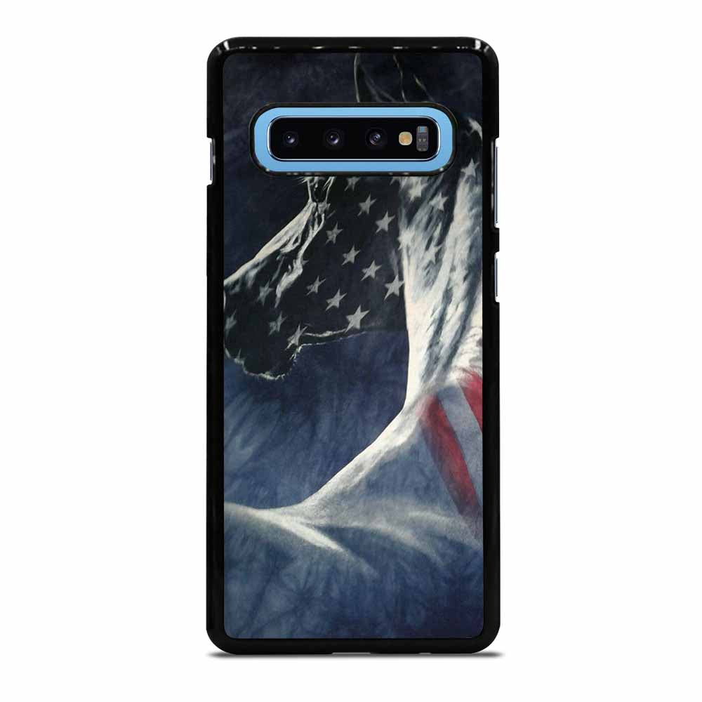 AMERICAN FLAG USA HORSE #1 Samsung Galaxy S10 Plus Case