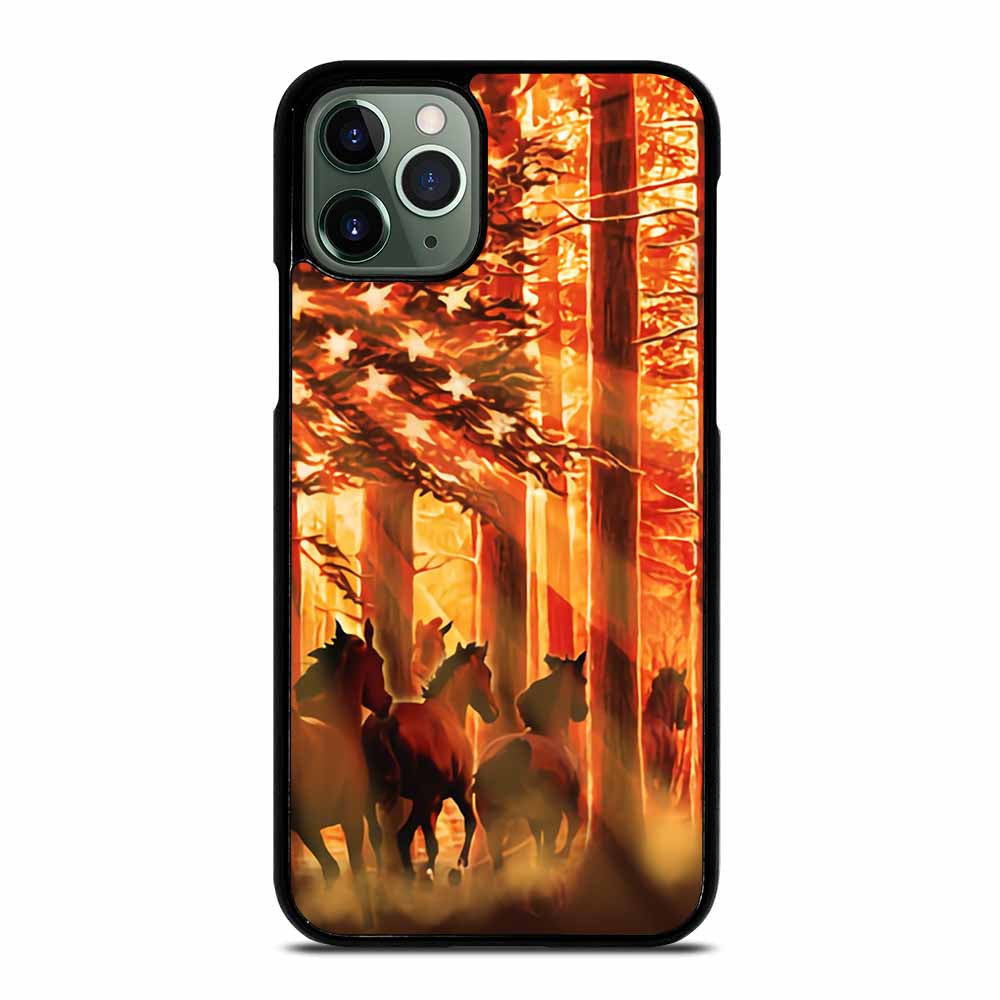 AMERICAN FLAG USA HORSE #3 iPhone 11 Pro Max Case