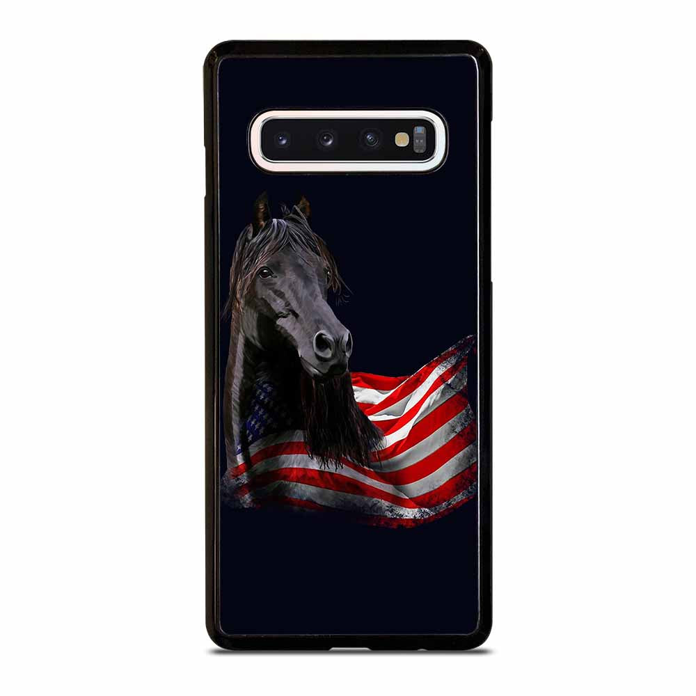 AMERICAN FLAG USA HORSE Samsung Galaxy S10 Case