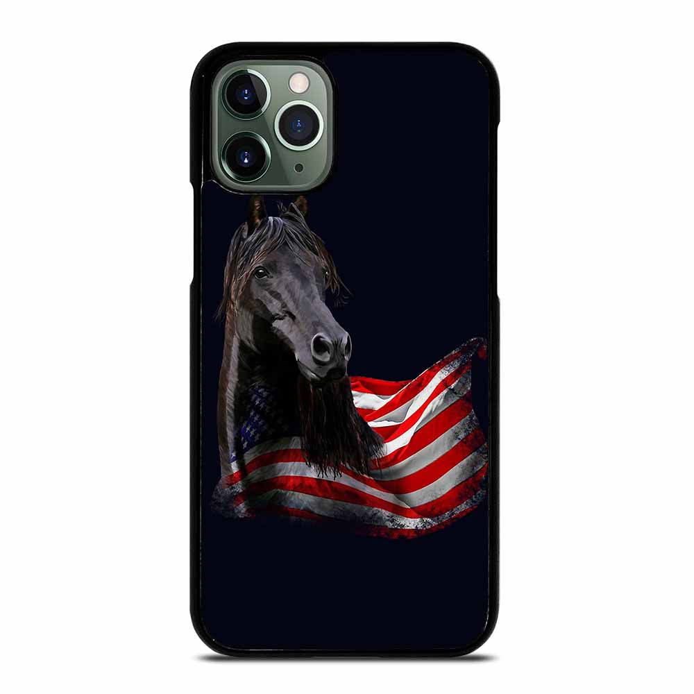 AMERICAN FLAG USA HORSE iPhone 11 Pro Max Case