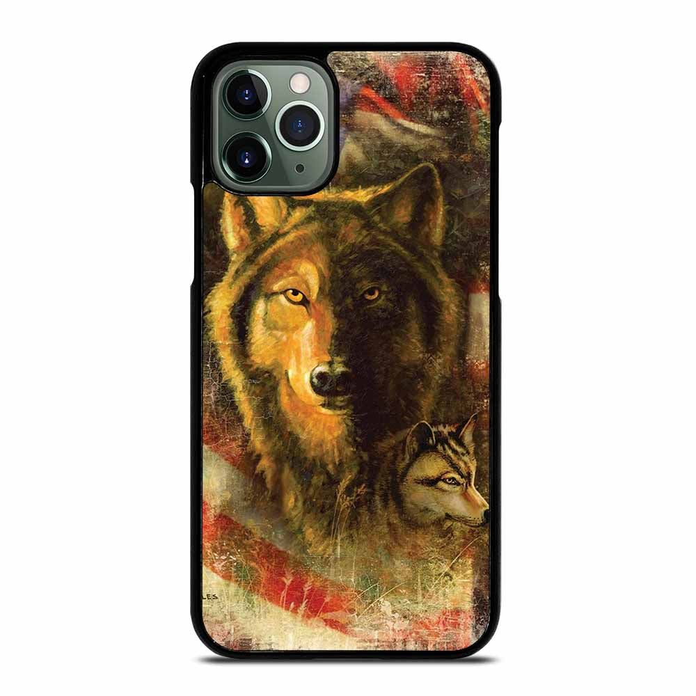 AMERICAN FLAG USA WOLF iPhone 11 Pro Max Case