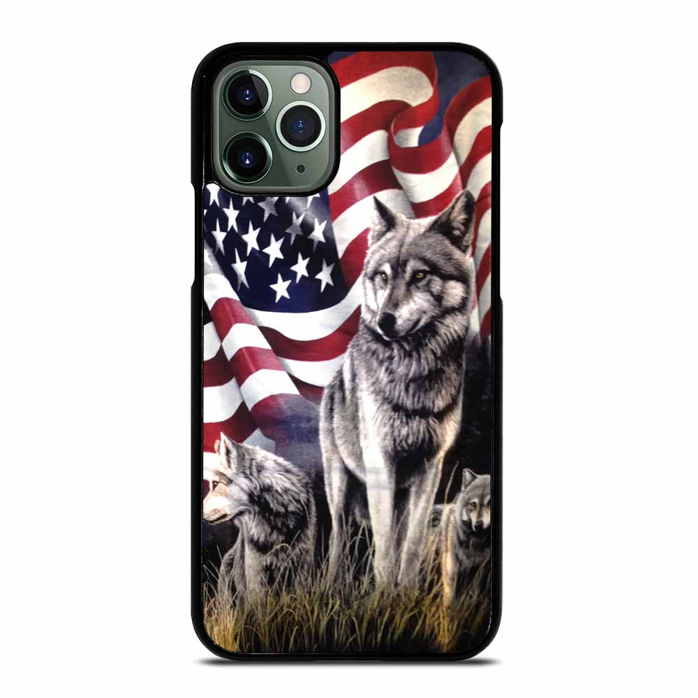AMERICAN FLAG USA WOLF #1 iPhone 11 Pro Max Case