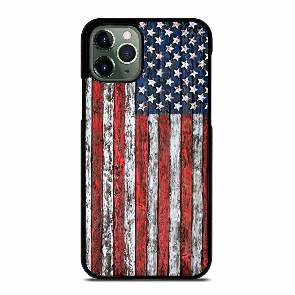 AMERICAN FLAG USA WOOD #1 iPhone 11 Pro Max Case