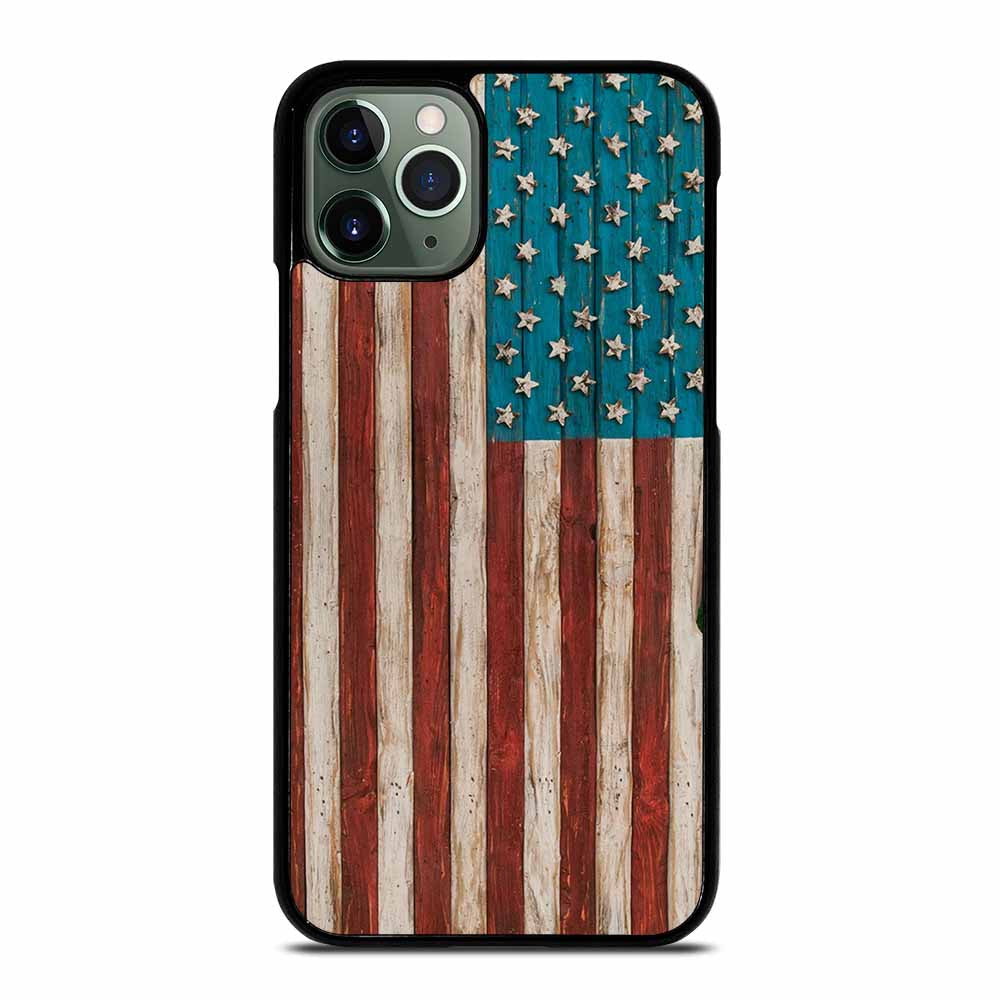 AMERICAN FLAG USA WOOD #2 iPhone 11 Pro Max Case