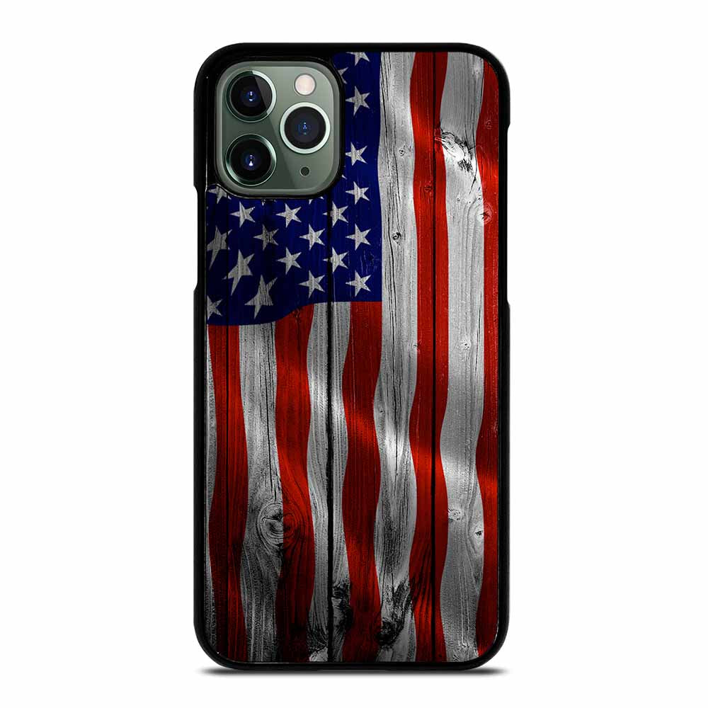 AMERICAN FLAG USA WOOD iPhone 11 Pro Max Case