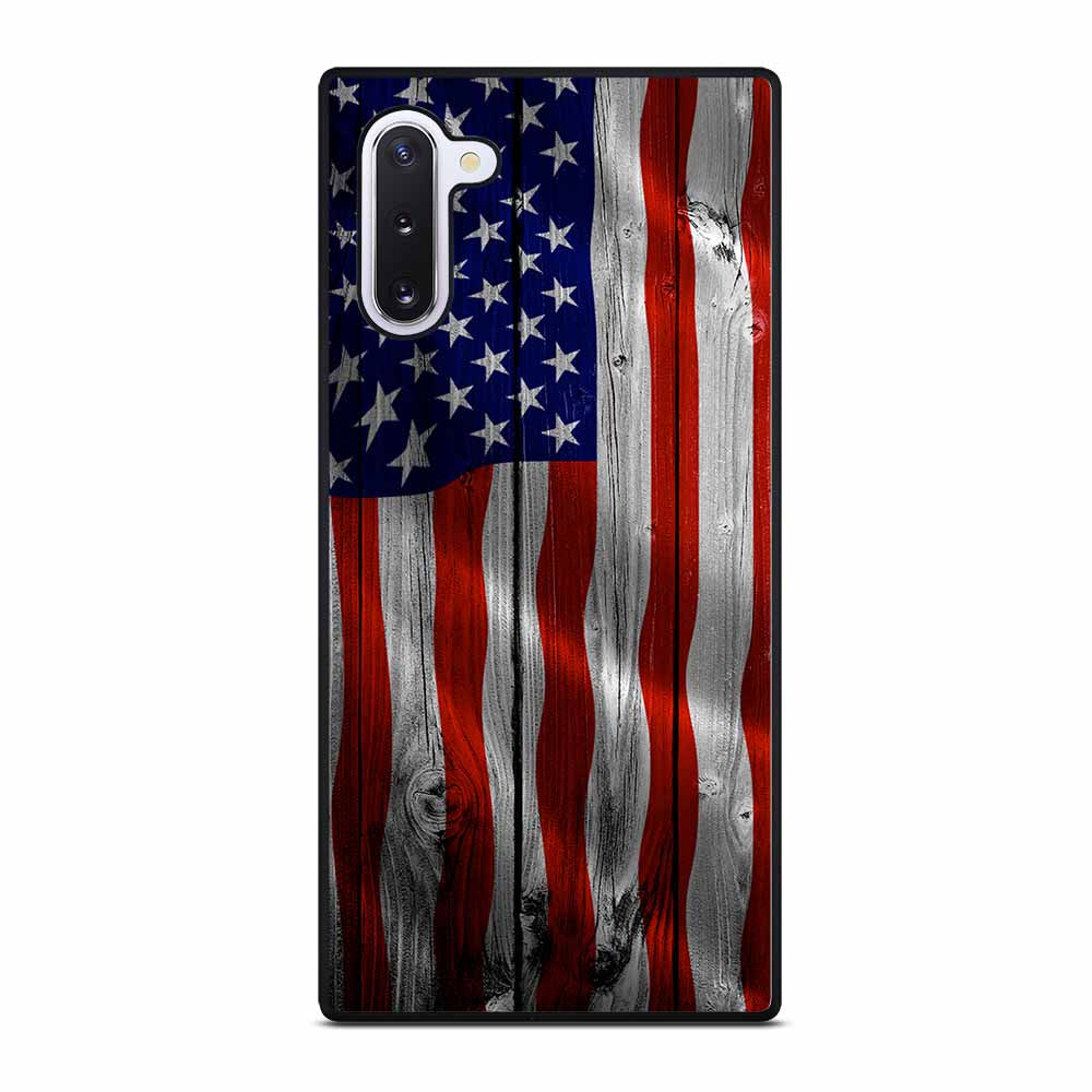AMERICAN FLAG USA WOOD Samsung Galaxy Note 10 Case