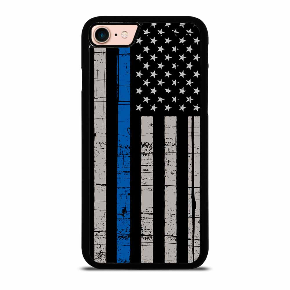 AMERICAN POLICE BLUE LINE FLAG iPhone 7 / 8 Case