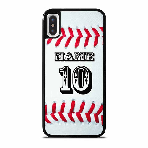 BALL BASEBALL YOUR NAME iPhone X / XS case