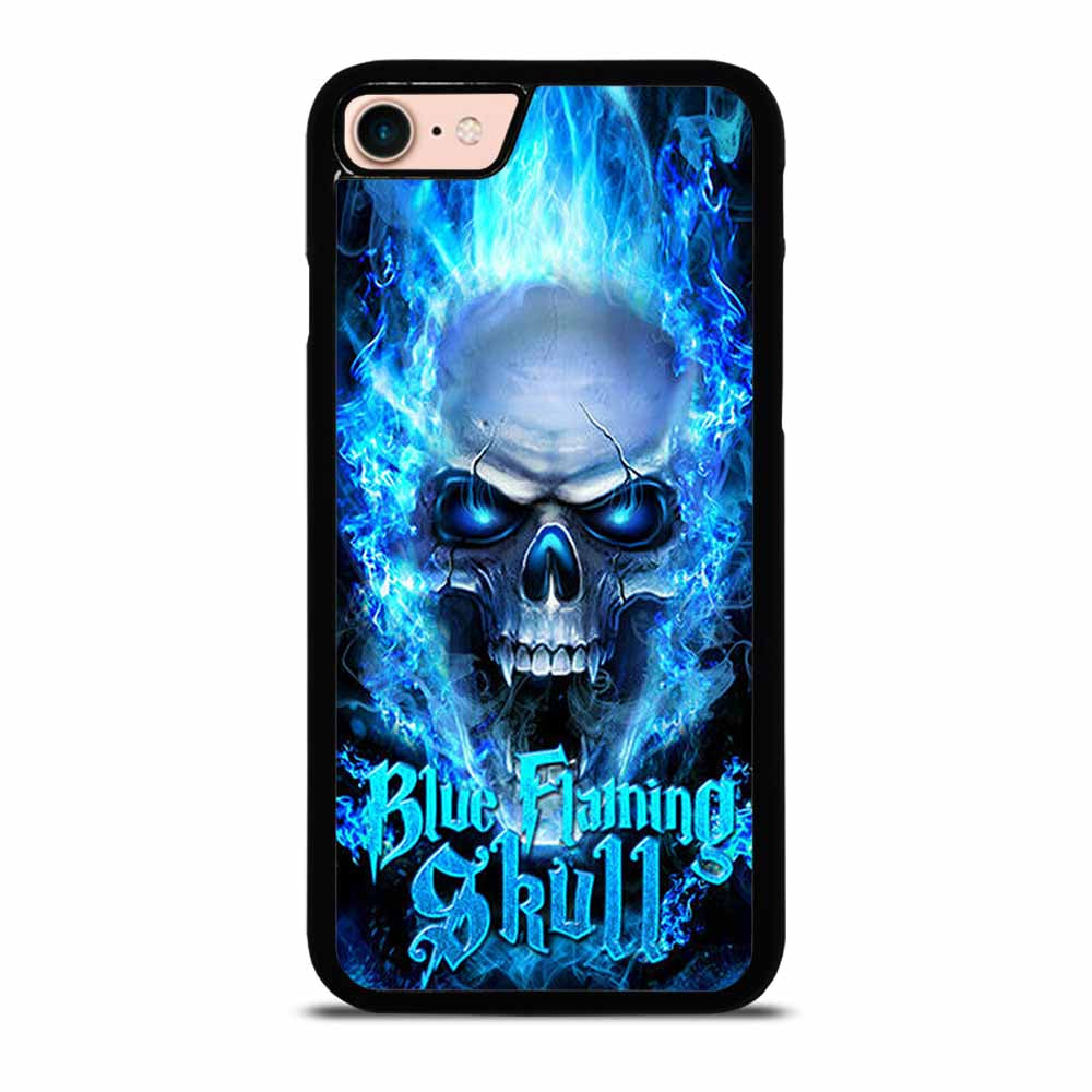BIKER SKULL FLAMING BLUE iPhone 7 / 8 Case