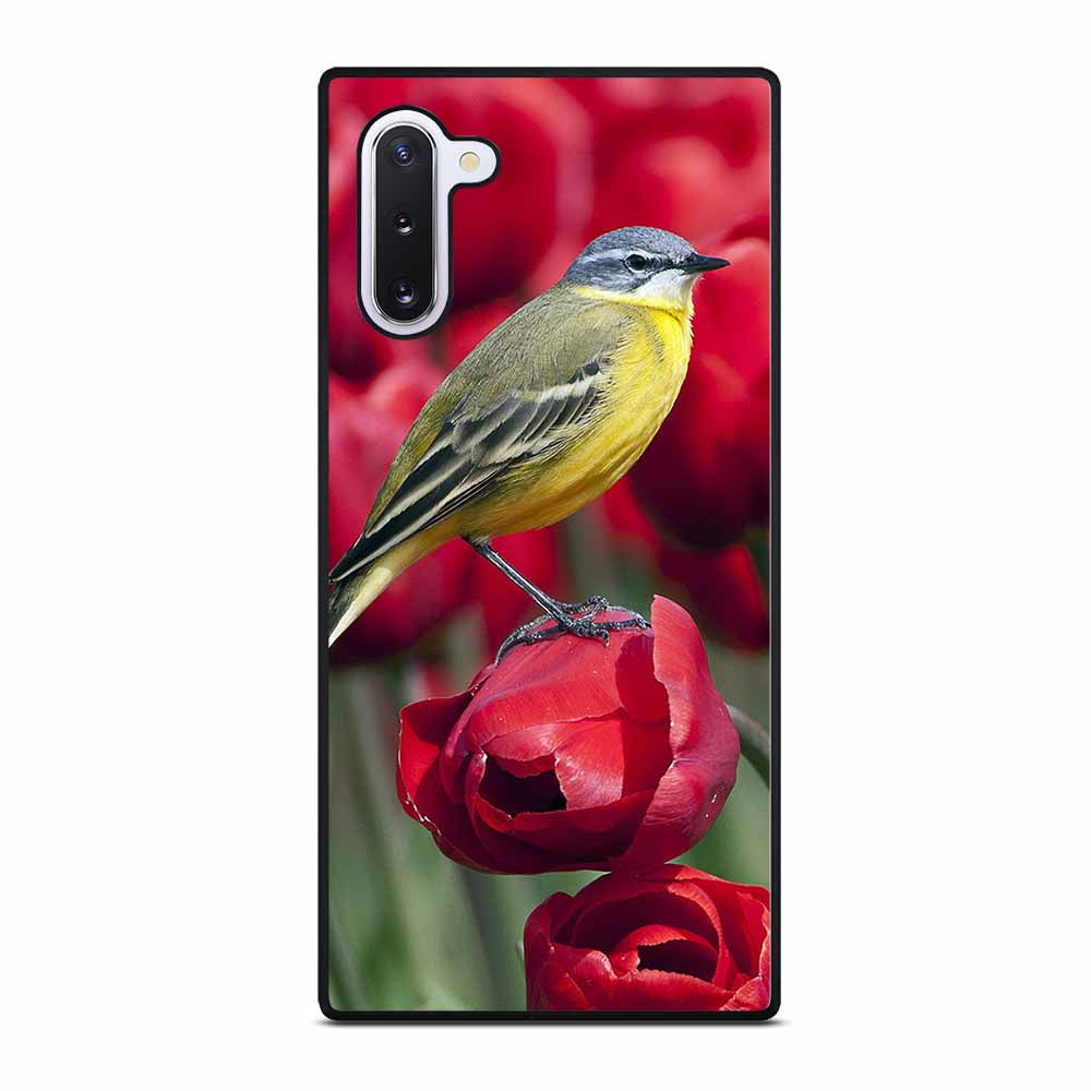BIRD STANDING ON TULIP Samsung Galaxy Note 10 Case