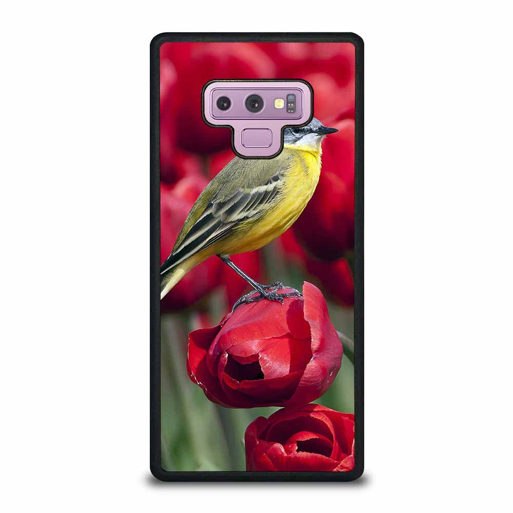 BIRD STANDING ON TULIP Samsung Galaxy Note 9 case