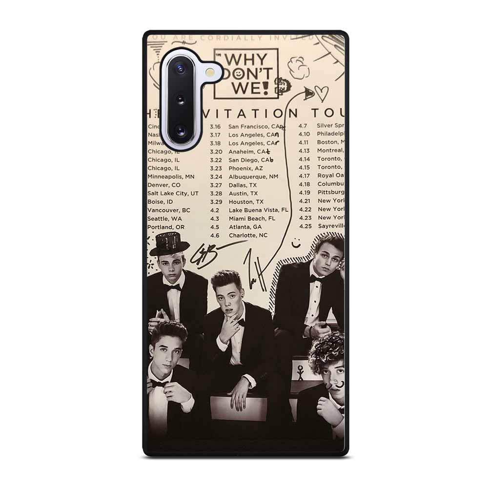BLACK WHITE WHY DON'T WE #1 Samsung Galaxy Note 10 Case