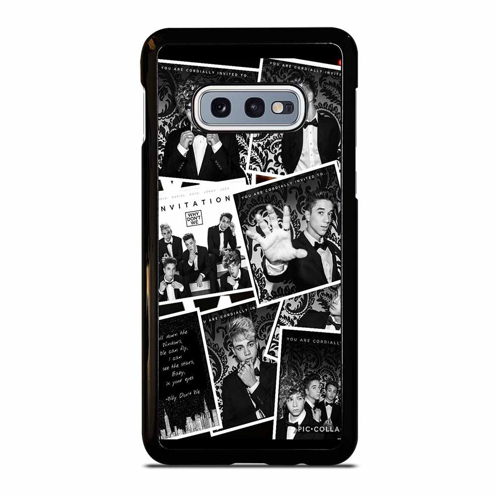 BLACK WHITE WHY DON'T WE Samsung Galaxy S10e case