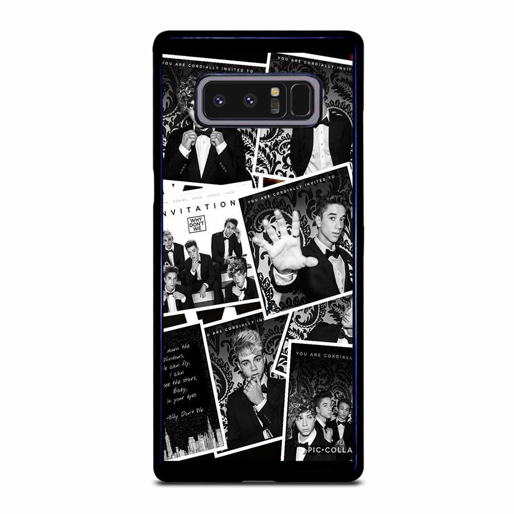 BLACK WHITE WHY DON'T WE Samsung Galaxy Note 8 case