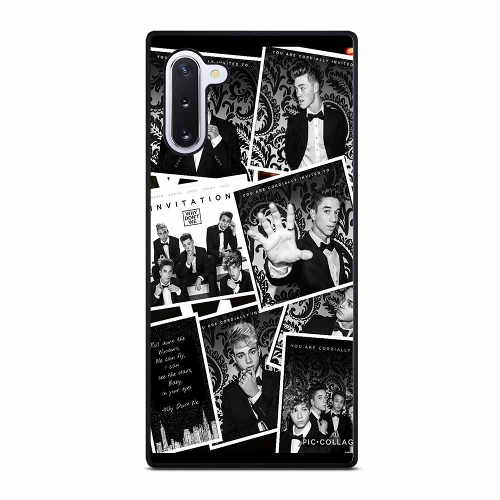 BLACK WHITE WHY DON'T WE Samsung Galaxy Note 10 Case