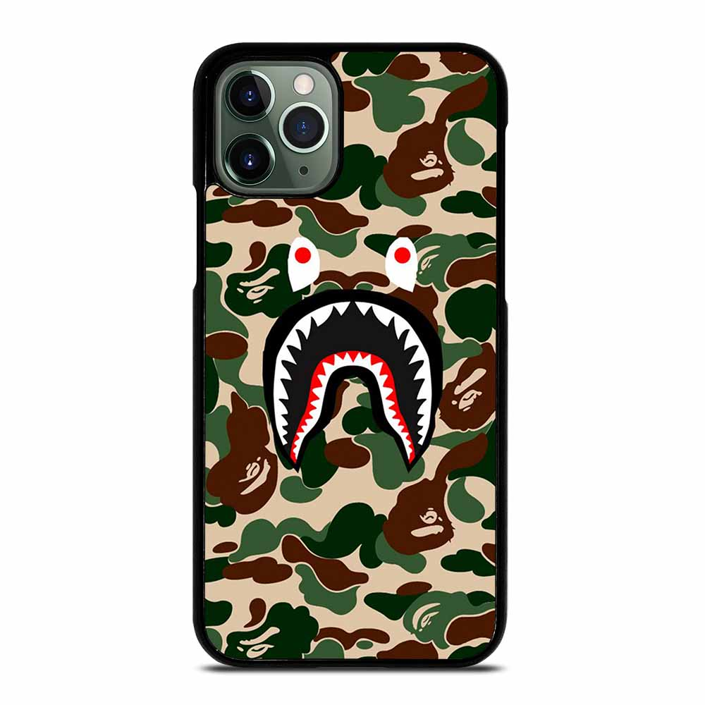 CAMO BAPE SHARK iPhone 11 Pro Max Case