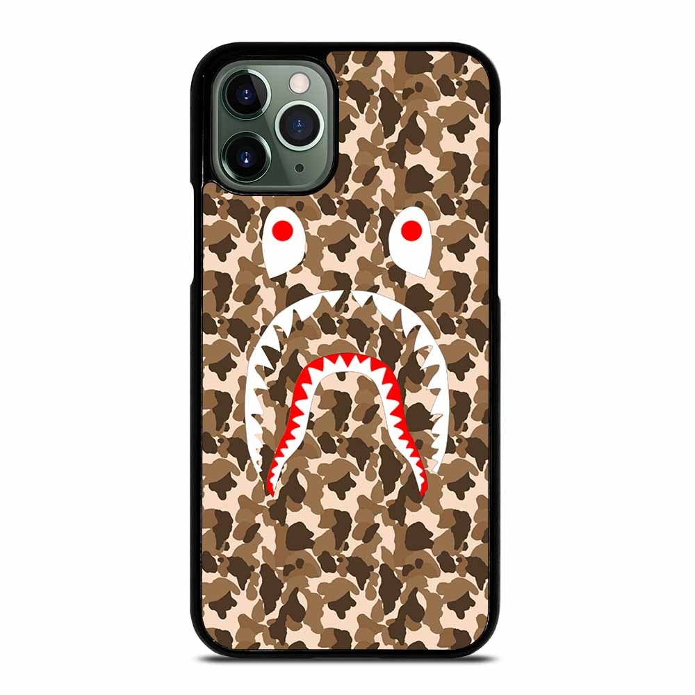 CAMO BAPE SHARK BROWN iPhone 11 Pro Max Case