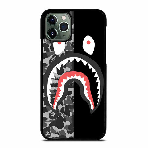 CAMO BAPE SHARK SILVER iPhone 11 Pro Max Case