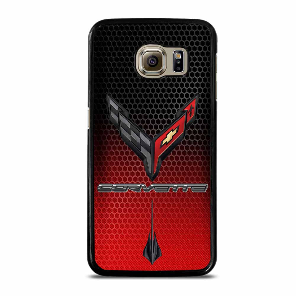 CORVETTE C8 BLACK RED Samsung Galaxy S6 Case