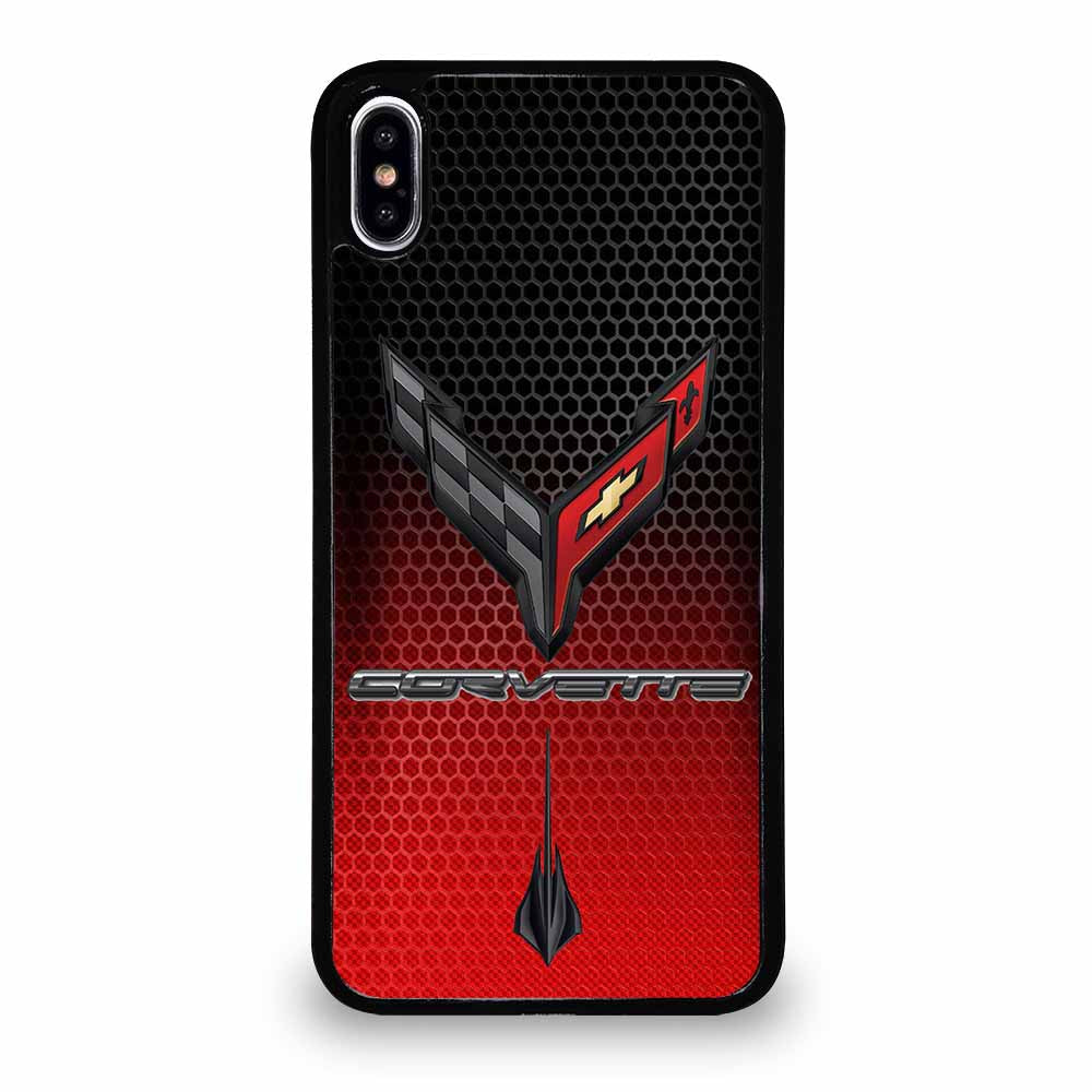 CORVETTE C8 BLACK RED iPhone XS Max case