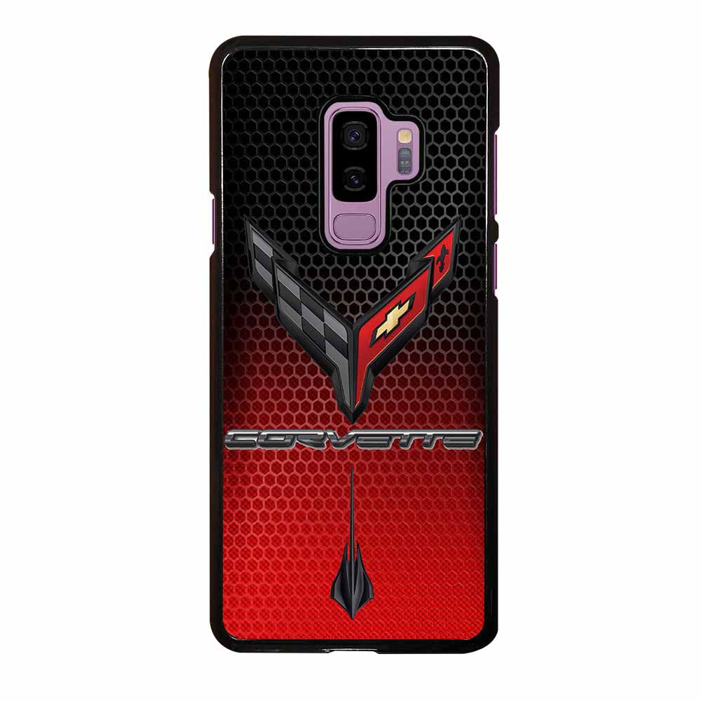 CORVETTE C8 BLACK RED Samsung Galaxy S9 Plus Case
