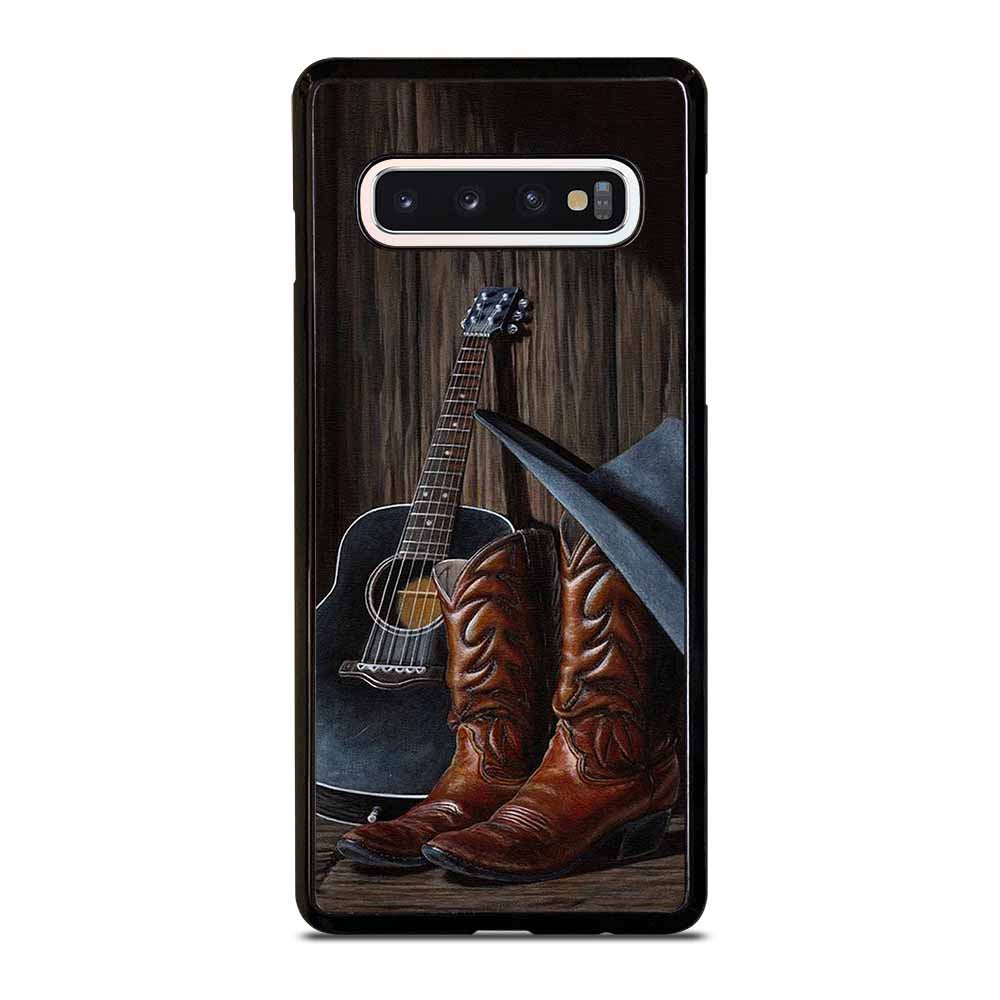 COUNTRY GUITAR BOOTS HAT Samsung S6 S7 Edge S8 S9 S10 Plus S10 5G S10e Note 8 9 10 10+ Case