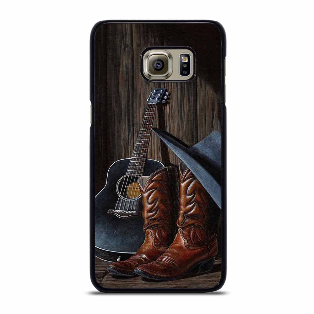 COUNTRY GUITAR BOOTS HAT Samsung Galaxy S6 Edge Plus Case