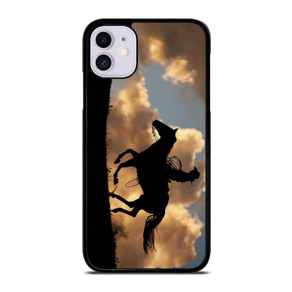 COWGIRL AND HORSE iPhone 11 Case