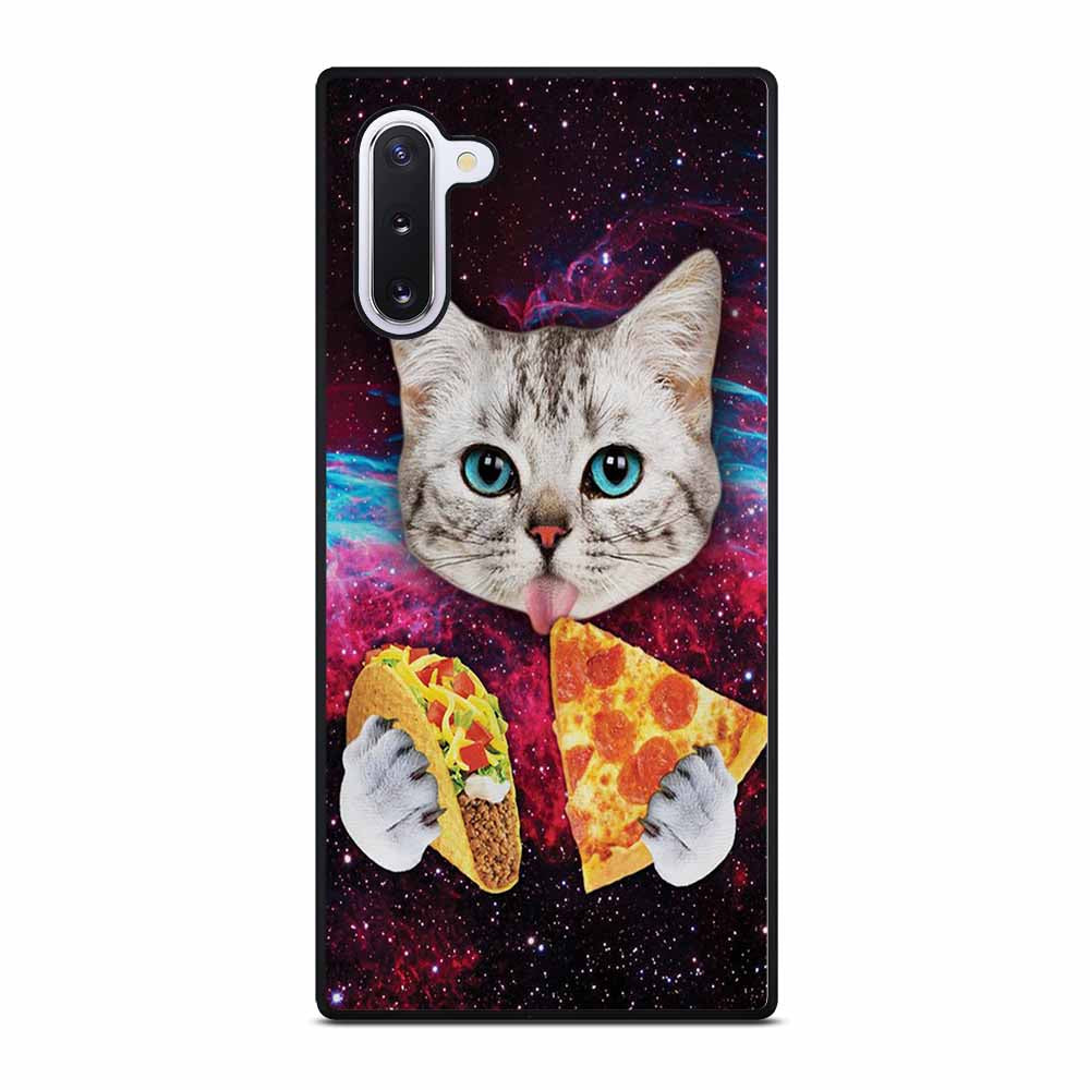 GALAXY CAT EATING PIZZA Samsung Galaxy Note 10 Case