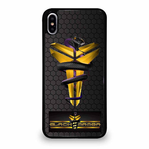 KOBE BRYANT BLACK MAMBA LOGO #1 iPhone XS Max case
