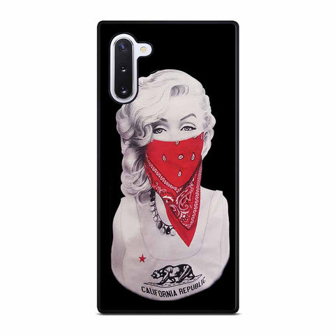 MARILYN MONROE RED BANDANA GANGSTER Samsung Galaxy Note 10 Case