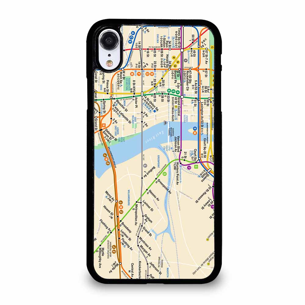 NYC SUBWAY MAP iPhone XR case