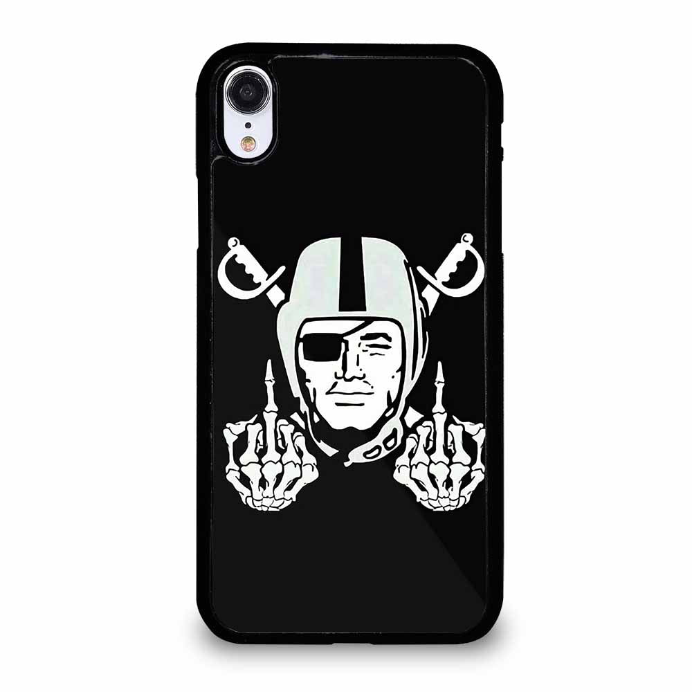 OAKLAND RAIDERS SKULL HAND iPhone XR case